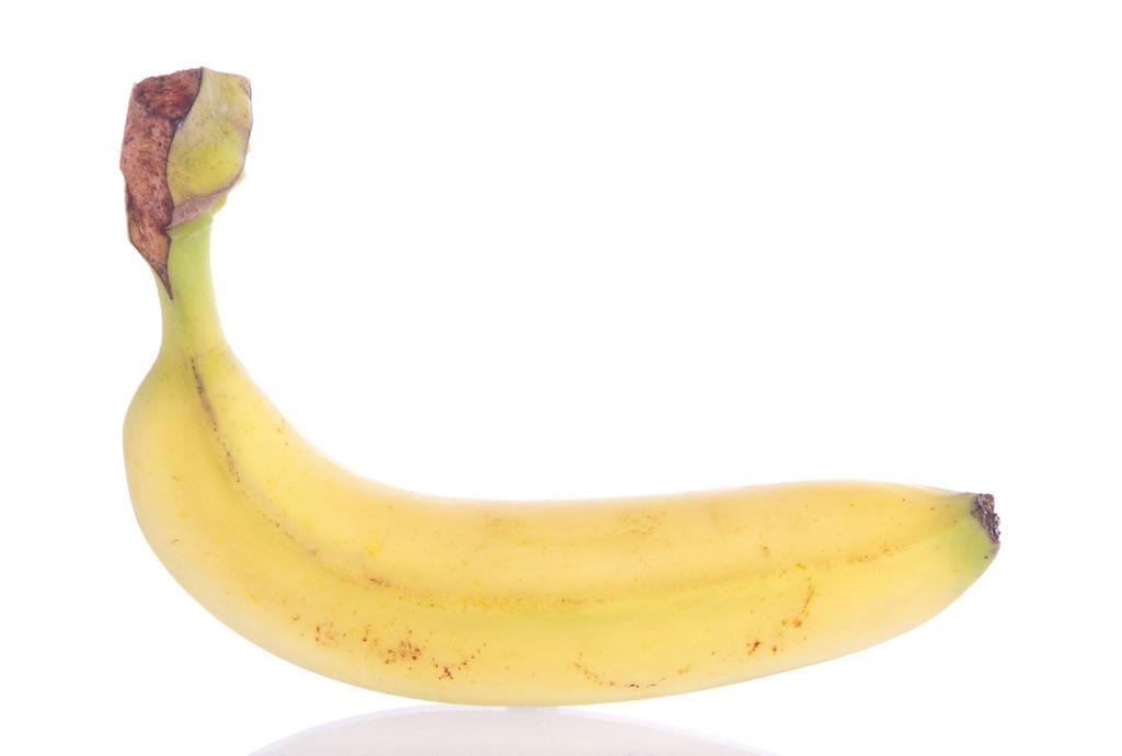 fresh banana fruit isolated on white background
