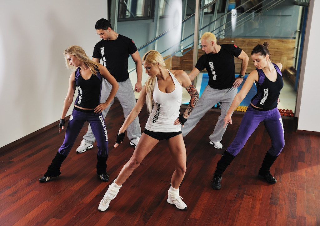 young healthy people group exercise fitness and get fit