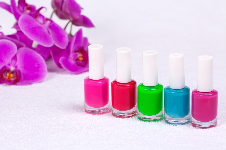 Colorful nail polishes for manicure